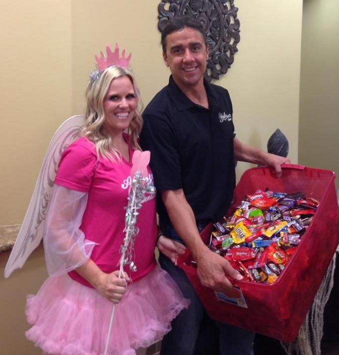Donating Candy - Dr Kelly Wettstein