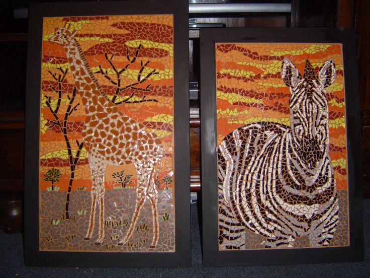 Mosaic Safari Animals