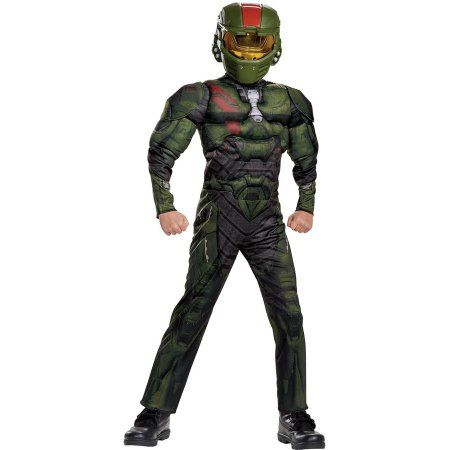Halo Wars Jerome Muscle Boys Child Halloween Costume, Size: XL (14-16), Multicolor