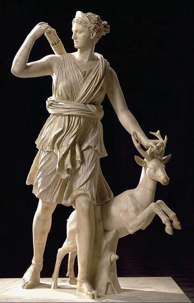 Artemis (Diana of the Romans) - goddess of the hunt and the moon / Артемида (Диана у римлян) – богиня охоты и Луны