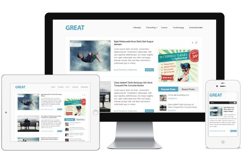 Great A Free Traditional Magazine Style Responsive WordPress Theme