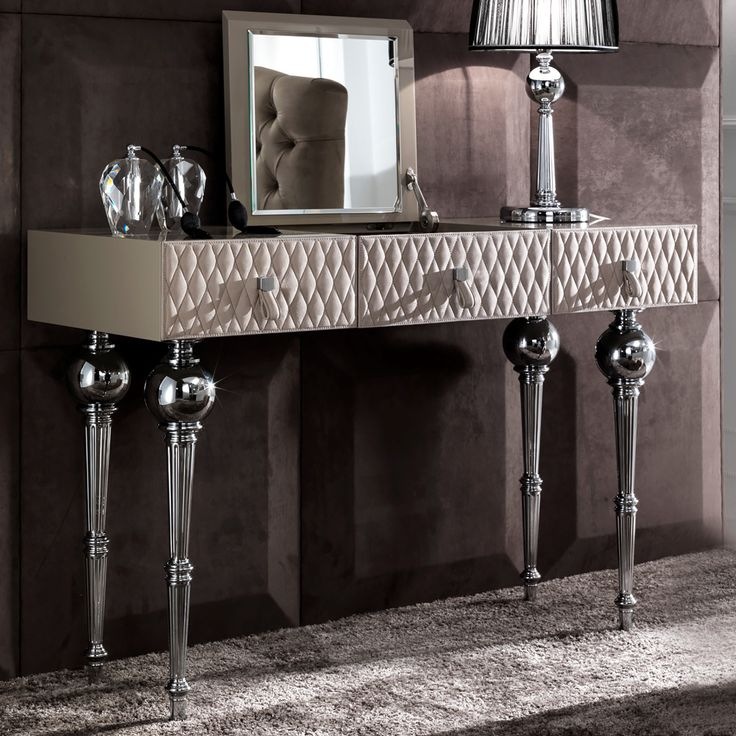 Luxury Nubuck leather dressing table at Juliettes Interiors, a large collection of Classical Furniture.
