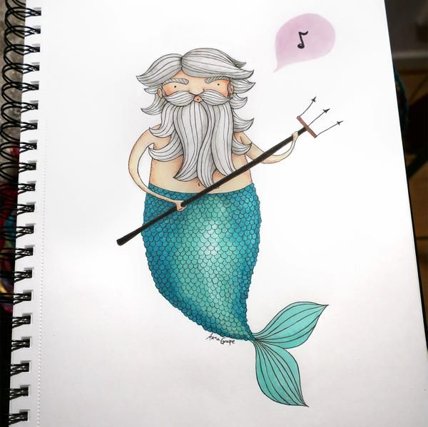 Poseidon by Anna Grape for Sketch Dailies