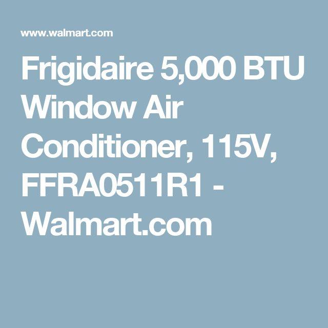 Frigidaire 5,000 BTU Window Air Conditioner, 115V, FFRA0511R1 - Walmart.com