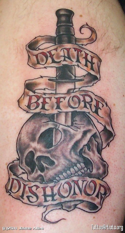 Death Before Dishonor Tattoo | Death Before DishonorFlash