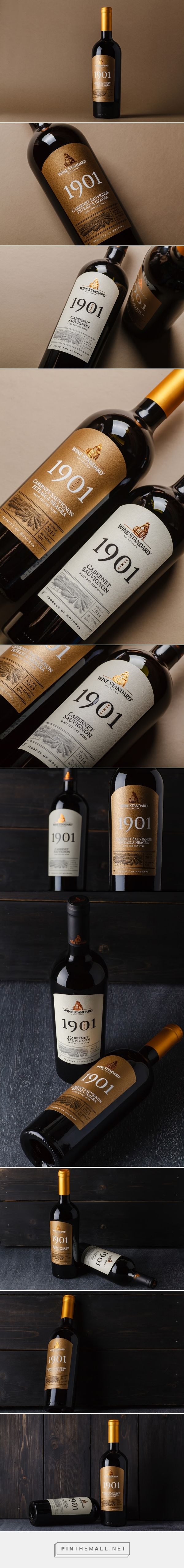 Wine Standard 1901 label design by 43'oz - Design Studio - http://www.packagingoftheworld.com/2017/01/wine-standard-1901.html