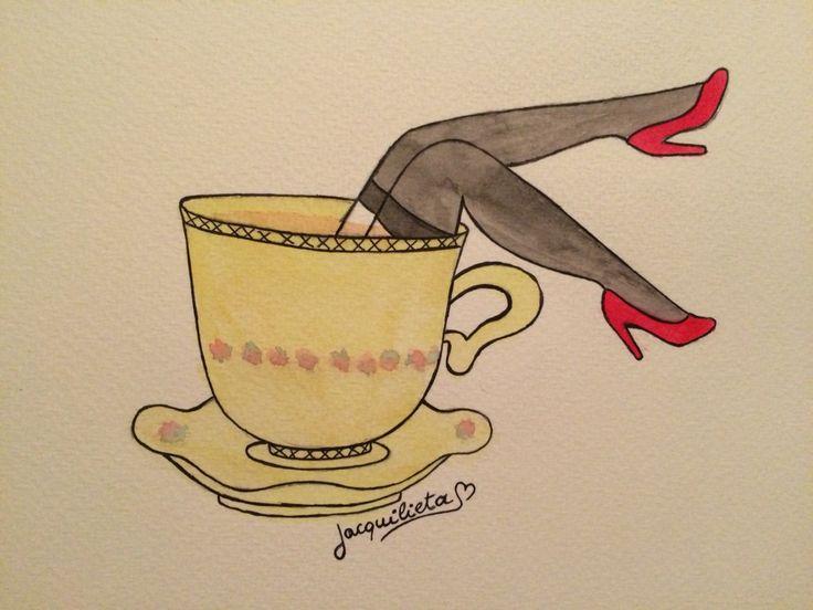 Café con piernas.