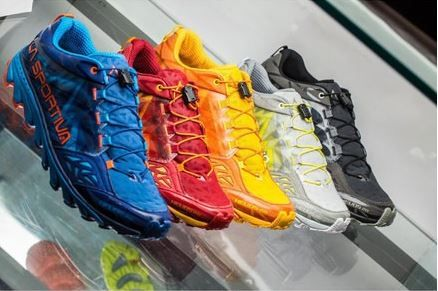 """Helios 2.0: """"Door to trail"""" style designed for training and running on hard off-road terrain. Available in 6 different colours. Helios 2.0 is the perfect """"door to trail"""" shoe designed for training and running on hard, off road tracks. It is available in 6 different colours and is part of the La Sportiva Mountain Running series."""