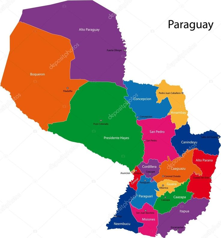 Image result for paraguay mapa