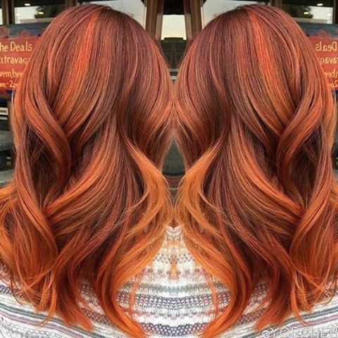 Best 25 orange highlights ideas on pinterest red hair orange how rich is this hair color stunning classic highlighting technique pinterest hair pmusecretfo Gallery