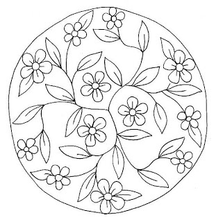 mandala pattern for a round stone or paver