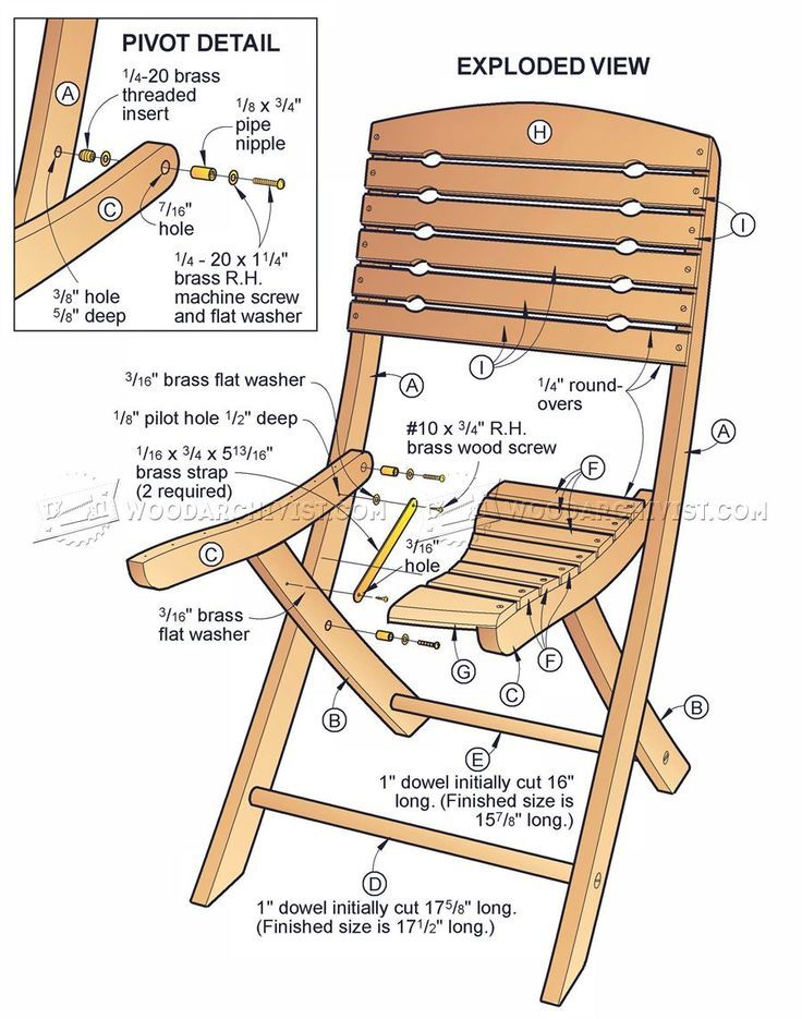 Foldable Chair Plans Deck Accessories 772 Folding Furniture Woodworking Tips Tricks