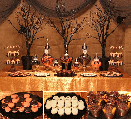 Best 25 elegant candy buffet ideas on pinterest wedding candy table gold candy bar and - Deco hal halloween ...