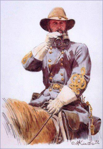 """James Longstreet was one of the foremost Confederate generals of the American Civil War and the principal subordinate to General Robert E. Lee, who called him his """"Old War Horse."""" He served under Lee as a corps commander for many of the famous battles fought by the Army of Northern Virginia in the Eastern Theater, but also with Gen. Braxton Bragg in the Army of Tennessee in the Western Theater."""