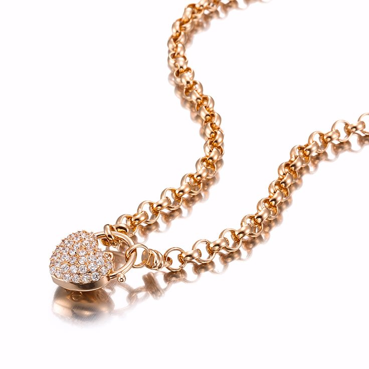 18ct Rose Gold Layered Belcher Necklace with Simulated Diamond Locket | Allure Gold