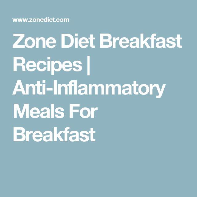 Zone Diet Breakfast Recipes   Anti-Inflammatory Meals For Breakfast