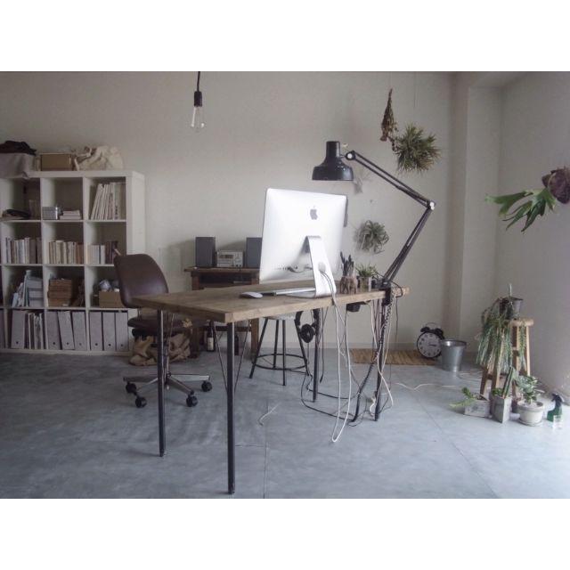 yasuakiさんの、部屋全体,無印良品,IKEA,植物,DIY,一人暮らし,ドライフラワー,iMac,賃貸,エアプランツ,メンズ部屋,チランジア,ビカクシダ,NO GREEN NO LIFE,塩系インテリアの会,塩系インテリア,のお部屋写真