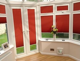 conservatory perfect fit pleated blinds