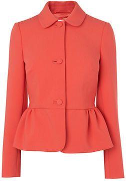 Boutique by Jaeger Peplum Jacket, Bright Orange on shopstyle.co.uk