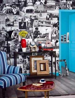 striking b&w pic photo wall.: Photos, Photo Collage, Interior Design, Photo Walls, Black And White, Wallpaper, Room Ideas, Picture Walls, Diy