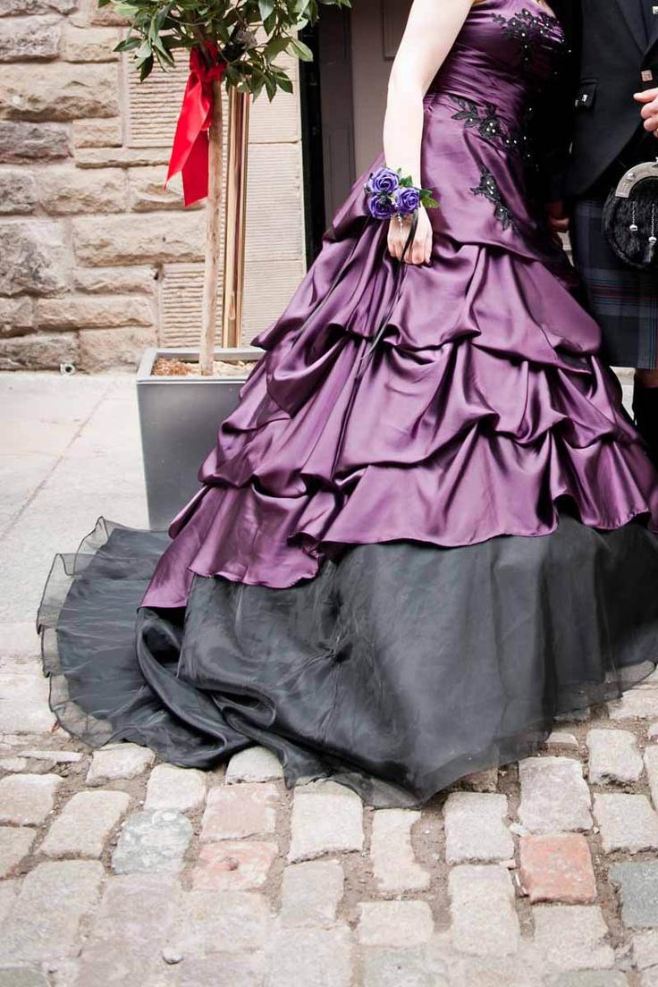 purple and black wedding dress - Halloween Wedding Gown