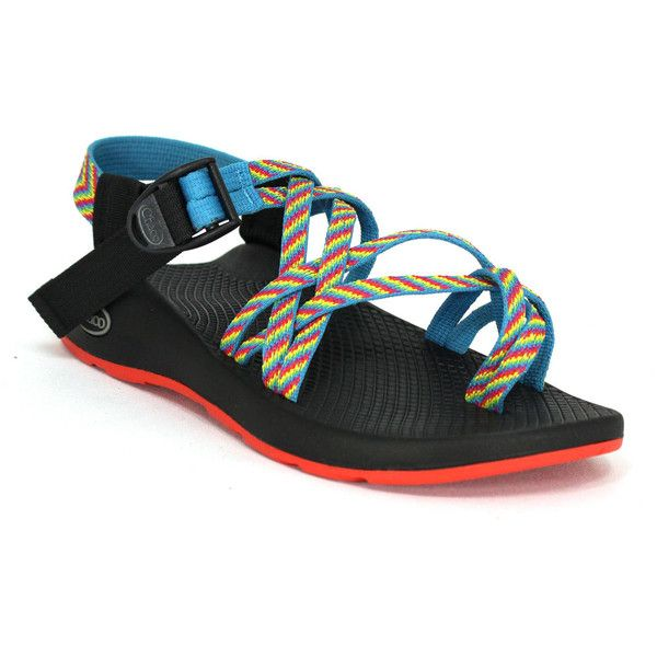 Chaco Zx/2 Yampa Toe Loop Fiesta - 6 M Women's Shoes ($105) ❤ liked on Polyvore featuring shoes, multicolor, chaco footwear, red shoes, chaco shoes, chaco and toe ring shoes