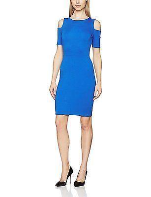 42, Blue (Sure Blue), Tom Tailor Women's Feminine Punto Dress NEW