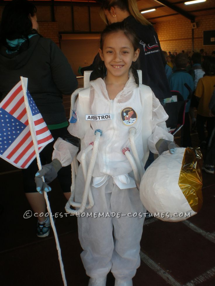 Homemade Astronaut Costume in Honor of Neil Armstrong... Coolest Halloween Costume Contest