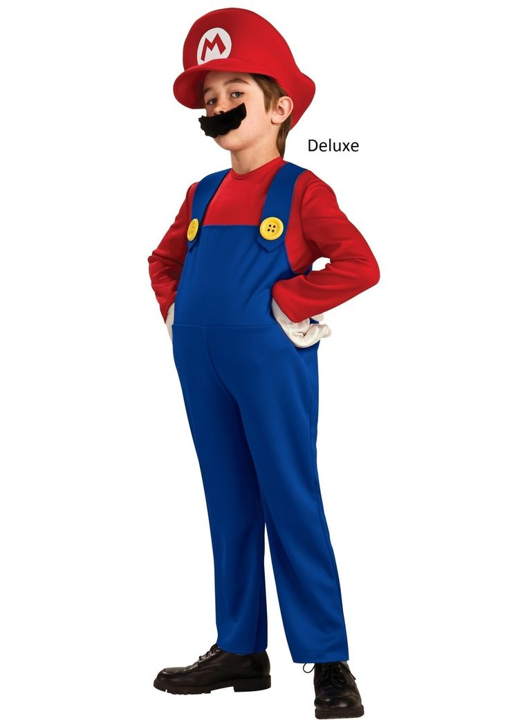 Let everyone know how much your little guy loves the Super Mario Bros this year when you dress them up for Halloween in this Super Mario Bros Youth Mario Costume.  Includes everything your little guy will need to be transformed into the most beloved video game character of all time after Pac-Man.