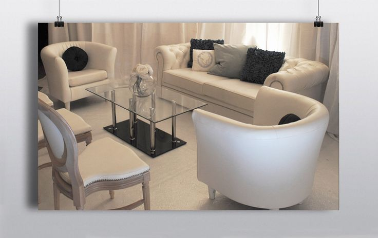 dd a different dynamic to your ballroom with some beautiful lounge furniture.     White Chesterfield Couch White Tub Chairs Hannah Jane Chairs Glass Coffee Table http://www.prophouse.ie/portfolio/pristine-white-lounge-furniture/
