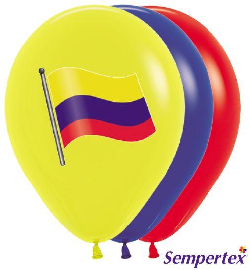 Globo R-12  Bandera de Colombia Policromía