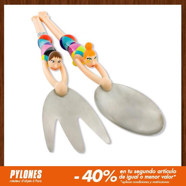 Cuchara para ensalada Arlquin. #SalePylones — en Colombia.