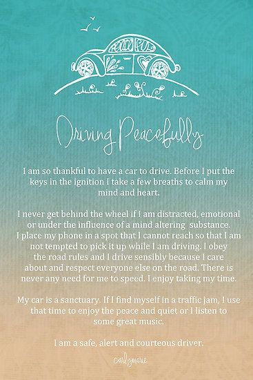 Affirmation - Driving Peacefully
