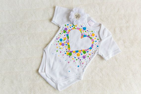 Rainbow Bubble Heart Play Suit by BellaBeeB on Etsy
