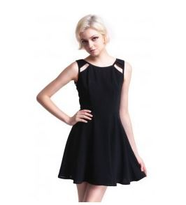 a line dress- inspiration- cuts outs at the shoulders....