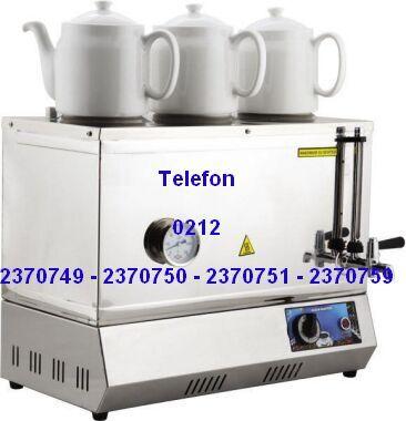 Üç Demlikli Çay Semaveri:Endüstriyel çay semaverlerinin en kaliteli tek demliği olan endüstriyel çay yapma makinalarının sanayi tipi 2-3 demlikli çay ocaklarının otomatik çay yapan çaycı kazanlarının en ucuz fiyatlarıyla satış telefonu 0212 2370749