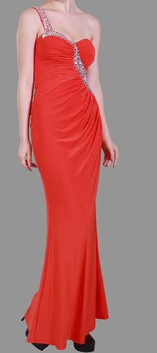 BG1567 Selling price $295. Available for hire too, Bright red with beaded detail, elegant and fitting in stretch fabric. Also available in royal blue and black. Perfect for your ball or special event!