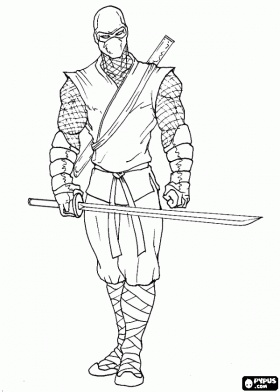 Master ninja ready for the fight coloring page | Coloring ...
