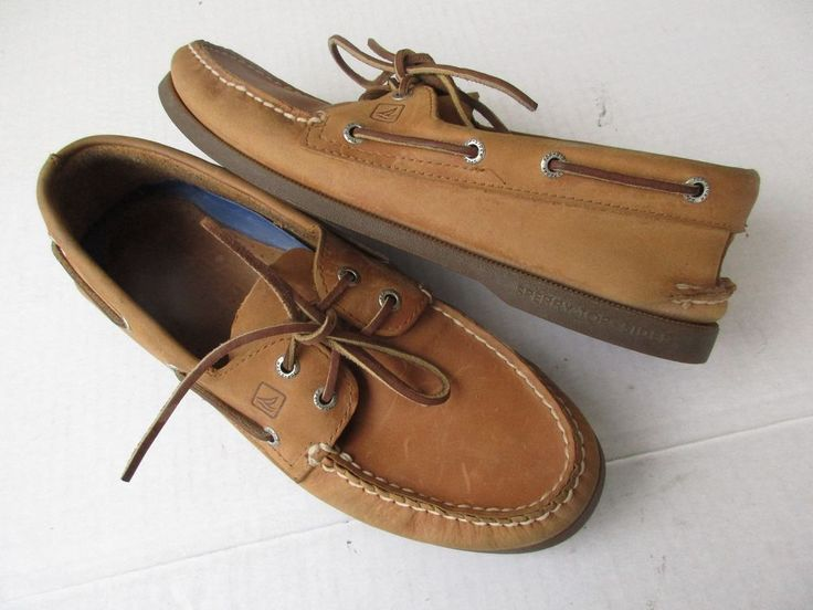Sperry Top Sider men shoes 10.5 M Tan Leather #SperryTopSider #BoatShoes