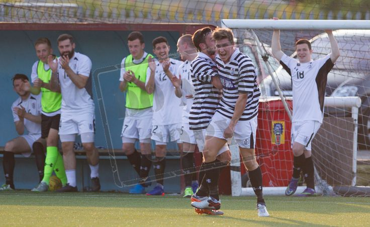 Queen's Park's Sean Burns celebrates his goal during the Betfred Cup game between Stenhousemuir and Queen's Park.
