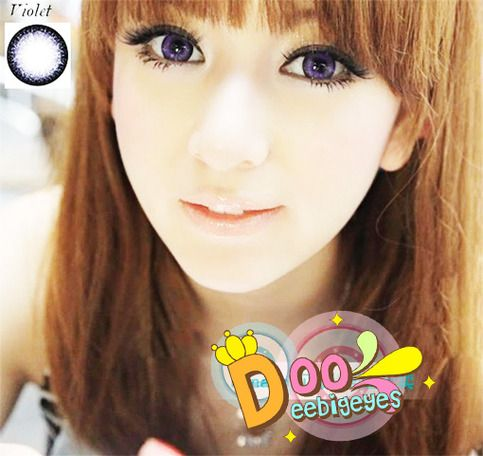 Coloured contact lenses Bigeye Natural Tones Dolce contact lenses bigeye Dolce_Violet Code: Dolce_Violet Brand: Sweety/Barbie Model: Dolce_Violet Soft Contact Lens Duration : 1 year Diameter(mm) : dia 14.5 Base Curve(mm) : B.c 8.60 Effect 17 Water content 38% Expire : 5 Years Manufactu...