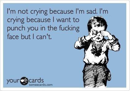The REAL reason I'm crying...
