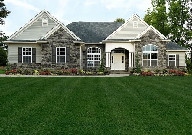 Best 25 ranch homes exterior ideas on pinterest for Custom ranch home plans