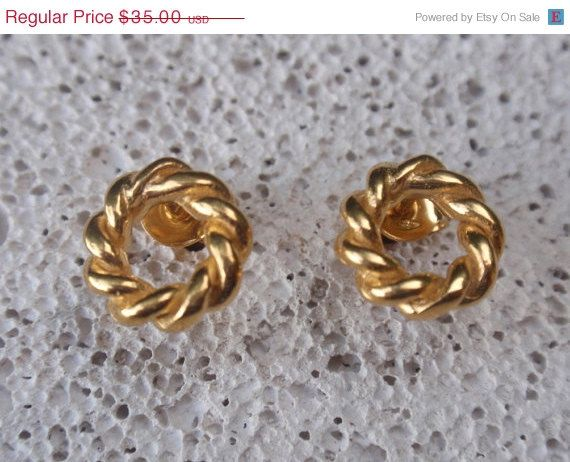 gold studs open circle stud earrings gold plated by preciousjd