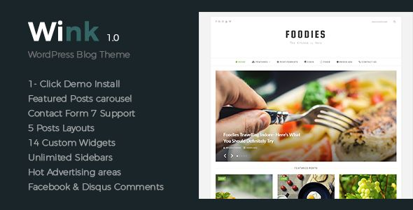 Simple, clean theme for foodies to share their love! #love #food #blog #design #theme