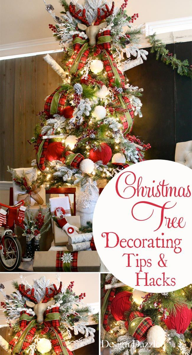 How to decorate a Christmas tree. Decorating tips and Christmas decor hacks shared by Toni of Design Dazzle.