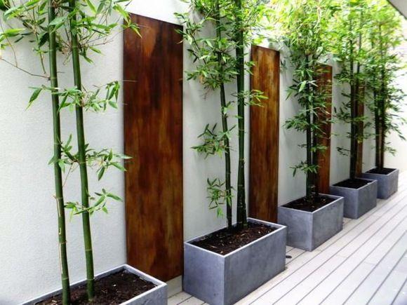idée de décoration de jardin avec du bambou