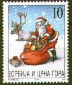 Stamp: Santa Claus (Serbia and Montenegro) (Christmas and New Year) Mi:YU…