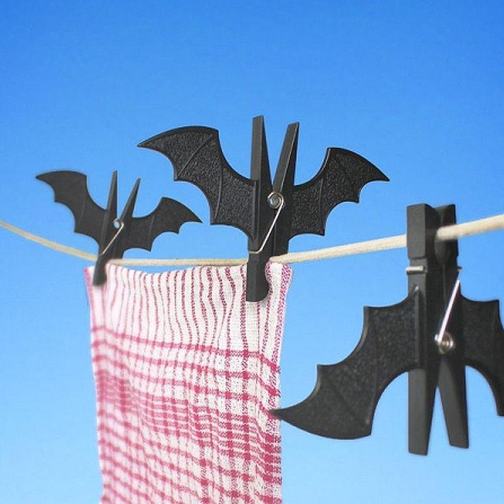 top3 by design - Suck UK - spooky bat pegs black