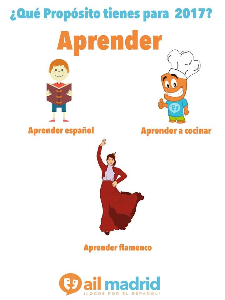 Uno de los propósitos más importantes para este #2017, ¡aprender! ¿Qué quieres aprender tu este año? #AprenderEspañol// One of the most important #resolutions for this 2017, #learning! What are you going to start learning this year? #LearnSpanish